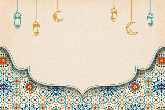 Colorful arabesque pattern