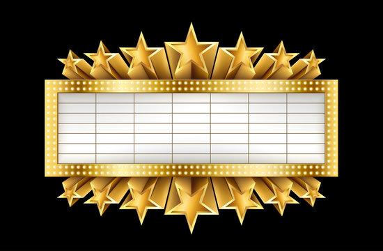 Metallic Golden Banner