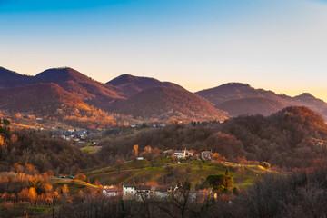 Asolani hills in Italy
