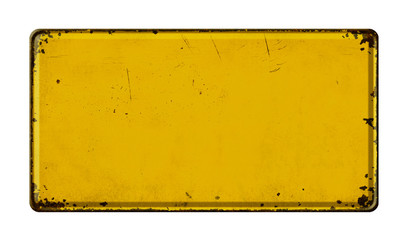 Fotorollo Retro Empty vintage metal sign on a white background