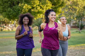 Photo Blinds Jogging Active curvy women jogging