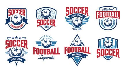 Soccer Classic Vector Emblems Set