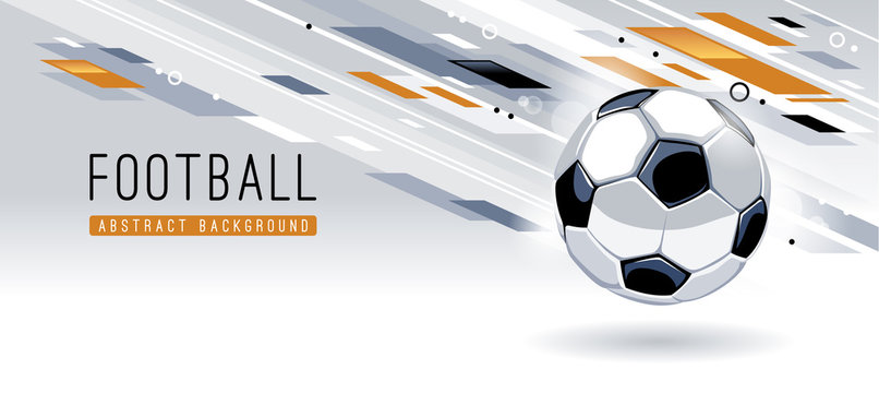Abstract Modern Background With Soccer Ball