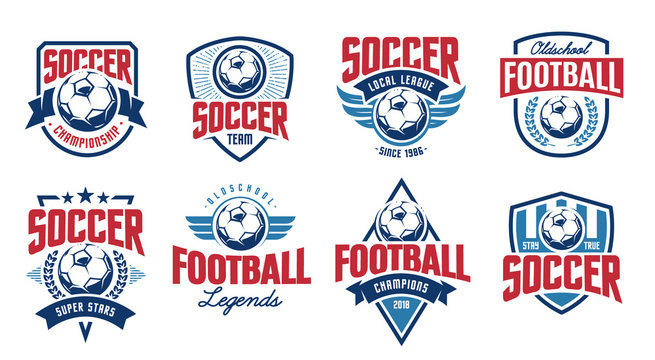 Soccer Classic Vector Emblems Set
