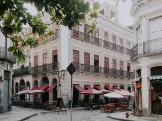 Fotomurales - Old street of Centro in Rio de Janeiro. Brazil