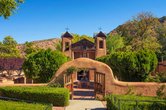 El Santuario De Chimayo historic Church in New Mexico