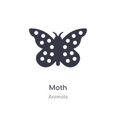 moth icon. isolated moth icon vector illustration from animals collection. editable sing symbol can be use for web site and mobile app