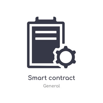 smart contract icon. isolated smart contract icon vector illustration from general collection. editable sing symbol can be use for web site and mobile app