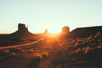 Wall Mural - Monument Valley at sunrise, Arizona, USA