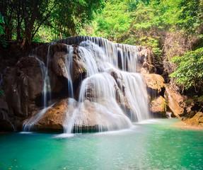 Marron chocolat Beautiful waterfall Huai Mae Khamin, Thailand