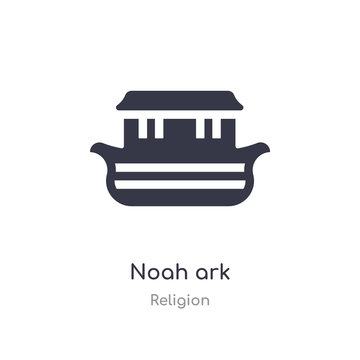 noah ark icon. isolated noah ark icon vector illustration from religion collection. editable sing symbol can be use for web site and mobile app