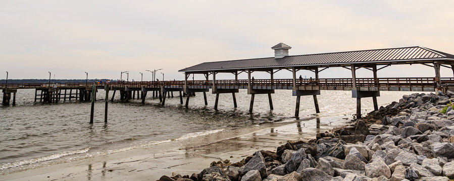 The old fishing pier on St Simons Island Georgia