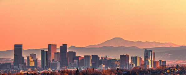 Denver skyline panorama - High Resolution  Fototapete