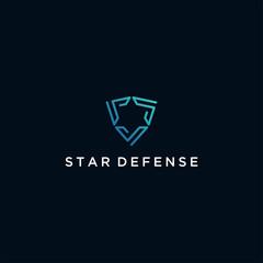 star shield technology logo design