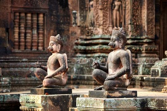 Banteay Srei ruins in Cambodia.