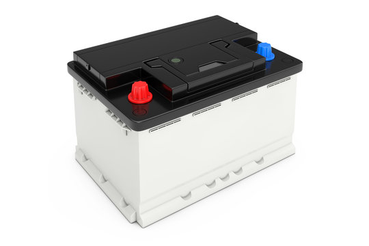 Rechargeable Car Battery. 3d Rendering