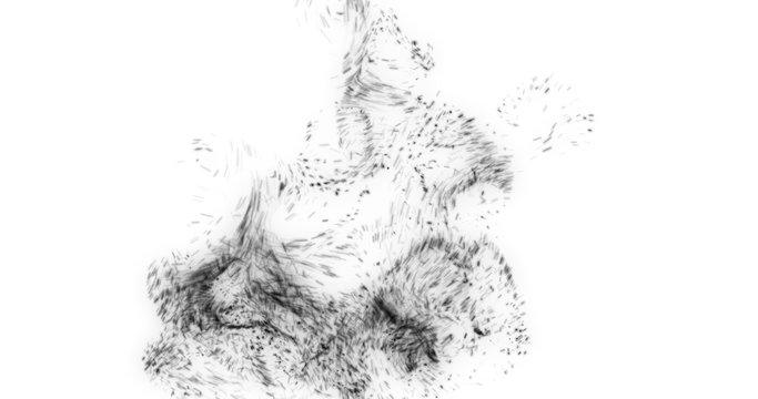 Abstract dynamic particles  texure