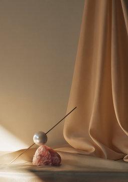 Pearl and stick balance