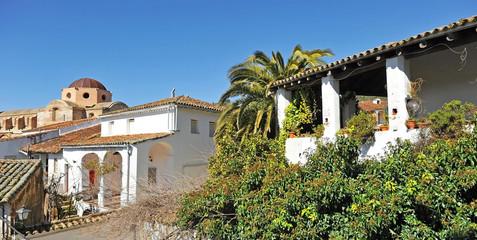 Castaño del Robledo beautiful village of the Sierra de Aracena Natural Park. Province of Huelva Andalusia Spain