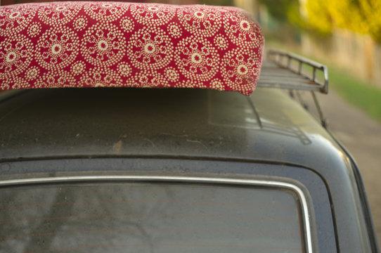 Mattress on a car top