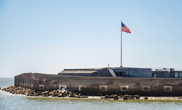 Fort Sumter National Monument in Charleston SC, USA
