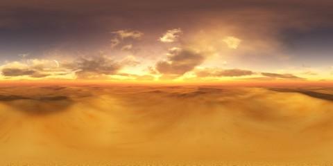 Panorama of sandy desert. Environment map. HDRI . equidistant projection. Spherical panorama. panorama 360