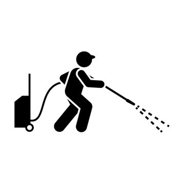 Cleaner, jet, tool, man icon. Element of workers icon. Premium quality graphic design icon. Signs and symbols collection icon for websites, web design