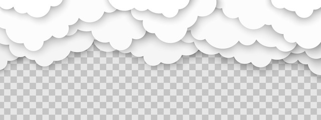 Clouds volumetric illustration Wall mural