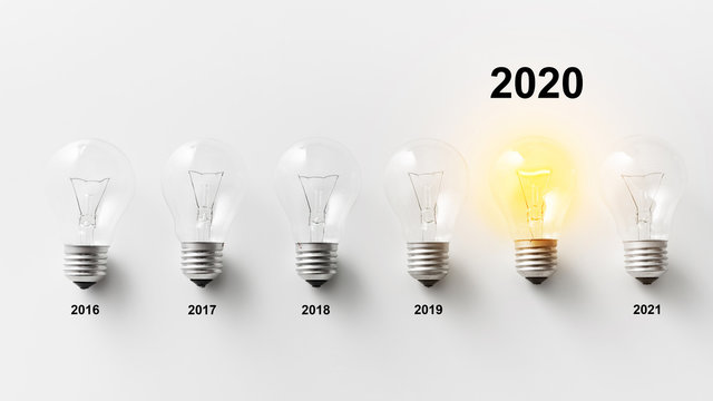 2020 year innovations concept