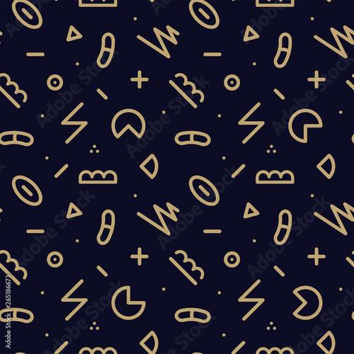 Vector trendy seamless geometric pattern - memphis design