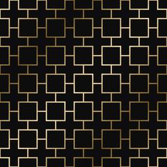 Vector geometric decorative pattern - seamless luxury gold gradient design. Rich ornamental background.
