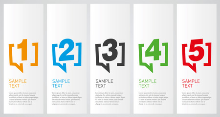 Colorful infographics design vector layout business concept 1 2 3 4 5 option step process Fototapete