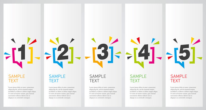 Colorful infographics design vector layout business success concept 1 2 3 4 5 option step