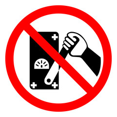 Do Not Touch Men Working Symbol Sign, Vector Illustration, Isolated On White Background,Icon .EPS10