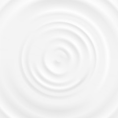 Realistic 3d Detailed White Milk Round Ripples. Vector