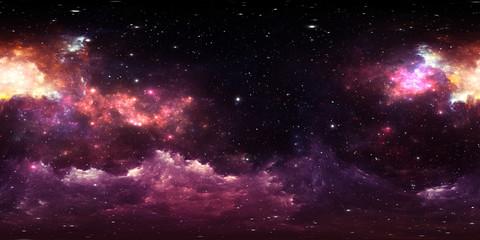 360 degree stellar system and gas nebula. Environment 360 HDRI map. Equirectangular projection, spherical panorama