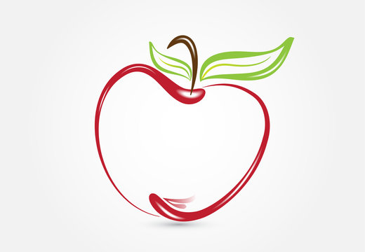 Apple silhouette logo