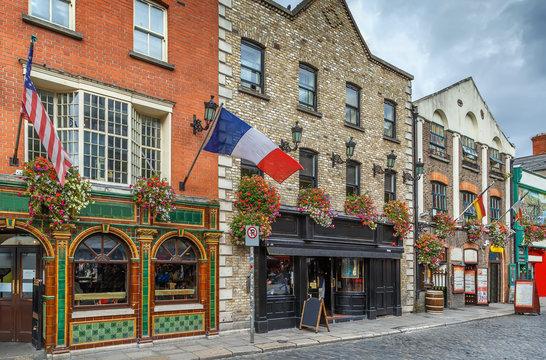 Temple Bar street, Dublin, Ireland
