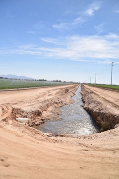 Arizona irrigation system canal for agriculture