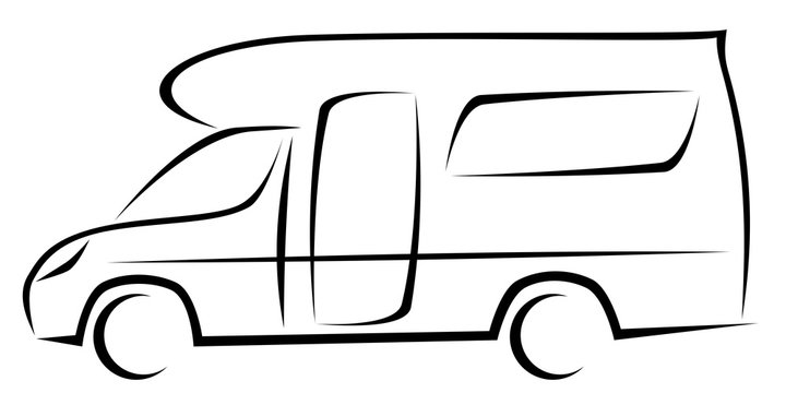 Dynamic vector illustration of a caravan for travellers which can be used for many adventures
