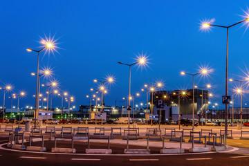 Parking lot lights Fotomurales