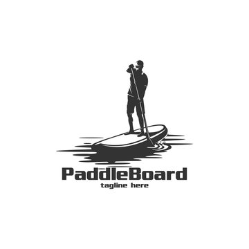 paddle board silhouette logo