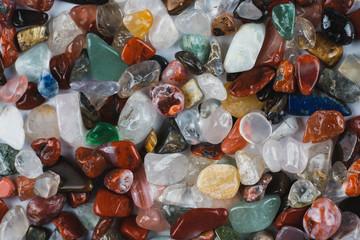 Heap of fluorite stones