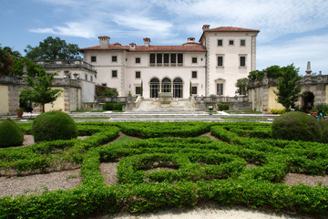 View of the Vizcaya Museum and Gardens, the former villa and estate of businessman James Deering, located in Coconut Grove., Miami, Florida, USA.