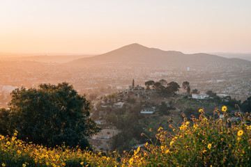 Wall Murals Dark grey Sunset view from Mount Helix in La Mesa, near San Diego, California