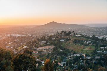 Canvas Prints Cappuccino Sunset view from Mount Helix in La Mesa, near San Diego, California