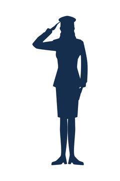 military woman silhouette icon