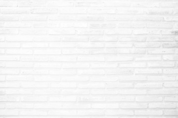 Spoed Foto op Canvas Baksteen muur White Brick Wall Texture Background.