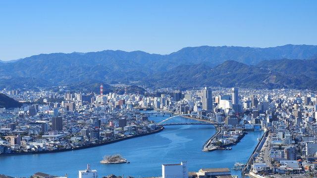 五台山から高知市街地の眺め3