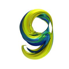 Alphabet font of melting liquid mental, 3d rendering,conceptual image.